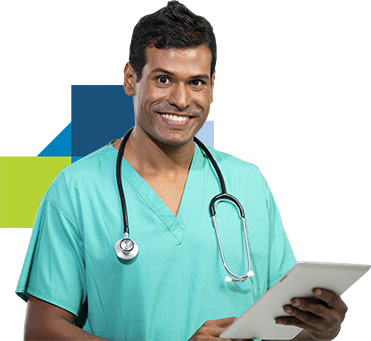 Smiling Doctor Holding Document