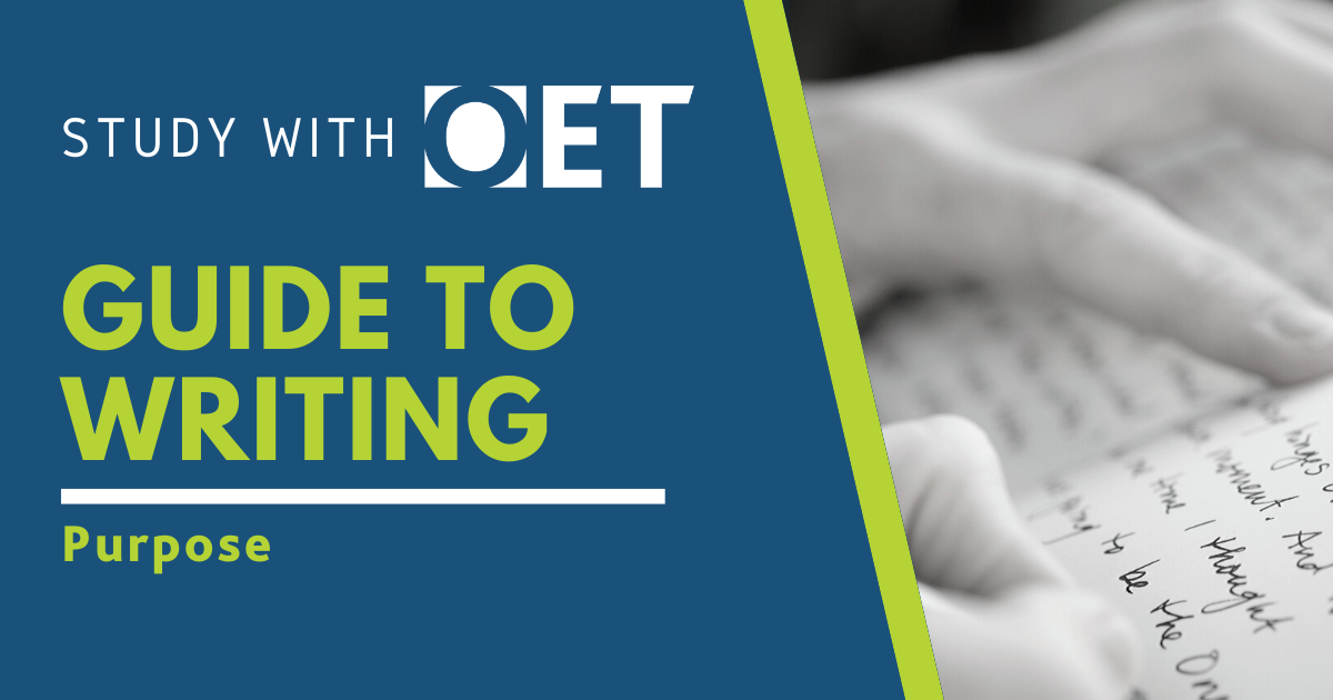Guide to the OET Writing sub-test category purpose