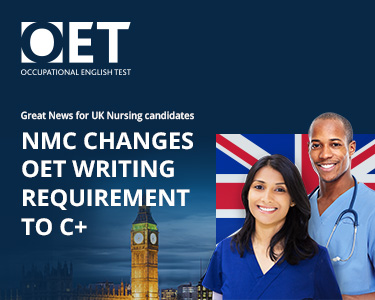 NMC changes OET Writing requirement to C+